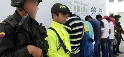 Capturan a 14 presuntos integrantes de 'Los Rastrojos' en Puerto Berrío