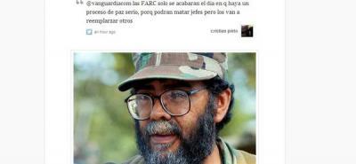 Así reaccionaron los Twitteros de Vanguardia.com a la muerte de 'Alfonso Cano'