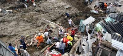 Aumentó a 20 el número de muertos por alud en Manizales