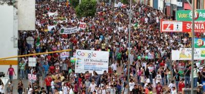 Se inició la marcha contra la reforma a la Ley 30.