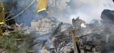 Incendio consumió vivienda en Girón
