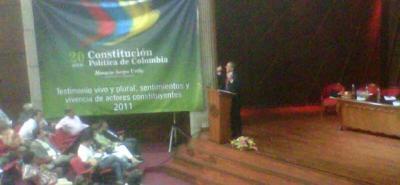 En Bucaramanga se celebran los 20 años de la Constitución Política
