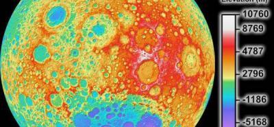 La NASA presenta el mapa topográfico de mayor resolución de la Luna
