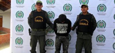 El Gaula capturó a presunto extorsionista de Palmicultores