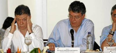 Santander exige airado por sus vías al presidente Santos