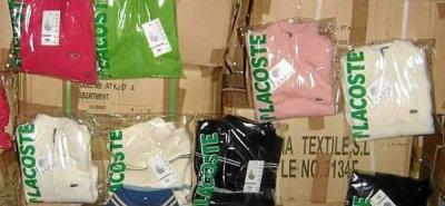 Incautan $320 millones en ropa de marca 'falsa' en el área