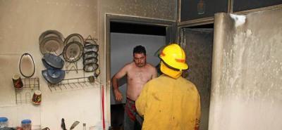Incendio en el Centro dejó dos menores lesionados