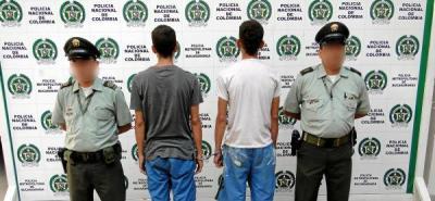 Capturados dos hombres por hurto calificado y agravado