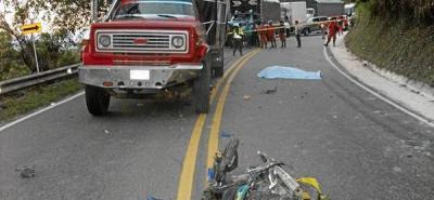 Un motociclista murió vía a Curos