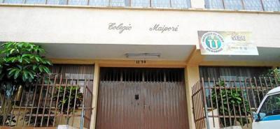 Ayer, estudiantes del Maiporé decidieron no recibir clases