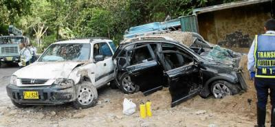 Volqueta sin frenos causó grave choque