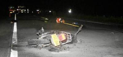 Choques en vías de Santander  dejaron dos personas muertas