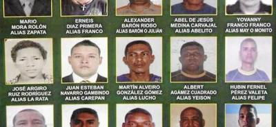 Policía ofrece recompensa por información de los 20 más buscados de la región
