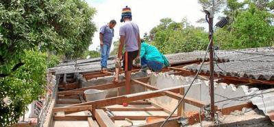 Inició entrega de ayudas a los afectados por ventarrón en Barrancabermeja