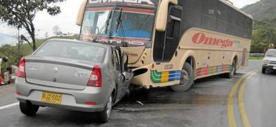 Accidente en la vía a Oiba no dejó heridos