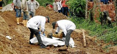Murió sepultado  por un derrumbe