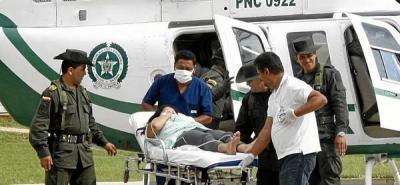 Mujer embarazada tuvo que ser evacuada en helicóptero