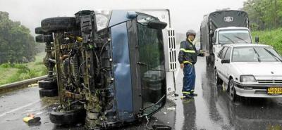 Tres personas resultaron heridas en cuatro accidentes