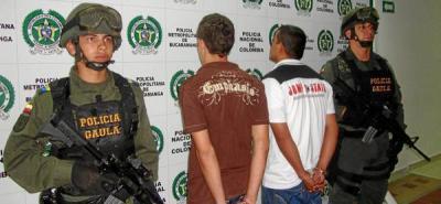 La Policía capturó a dos jóvenes por el delito de extorsión