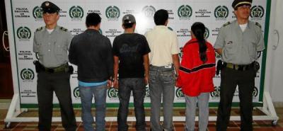 Capturados cuatro presuntos expendedores de alucinógenos