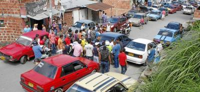 Finalizó marcha de transportadores informales en el norte de Bucaramanga
