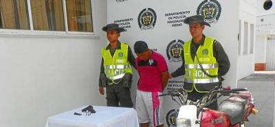 Capturado joven por porte ilegal de arma de fuego en La Esperanza