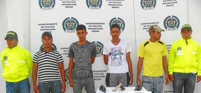 Cuatro presuntos integrantes de  'Los Acuamanes' fueron detenidos