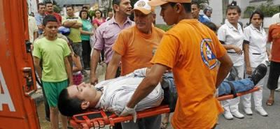 Hombre resultó herido en accidente