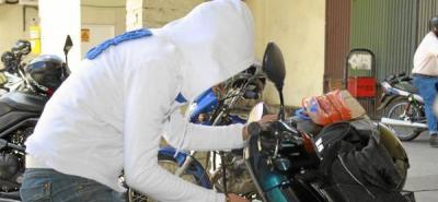 Dos motos al día se roban en el área metropolitana