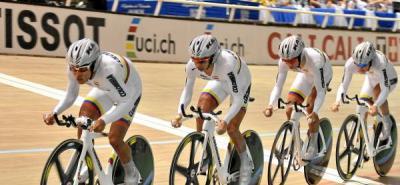 Colombia avanzó en la persecución por equipos de ciclismo