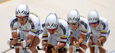 Colombia, octavo en la persecución por equipos de ciclismo