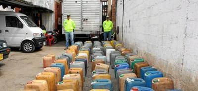 Incautan 404 galones de gasolina de contrabando