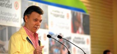 """""""Si el proceso de paz fracasa, podemos decir no pasó nada"""": Santos"""