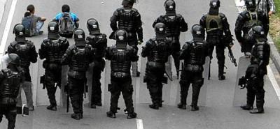 Conductores de servicio público en Girón protagonizaron disturbios