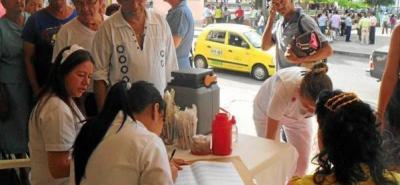 Buenos resultados dejó jornada de vacunación en Floridablanca