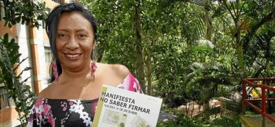 """Estercilia Simanca Pushaina, escritora indígena. """"Manifiesta no saber firmar"""""""