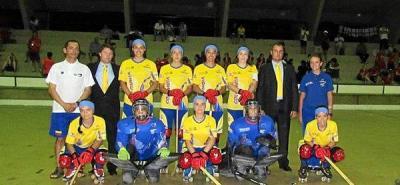 Selección Colombia en la semifinal del Mundial de Hockey SP