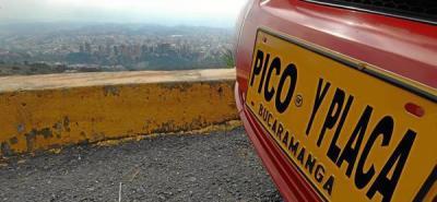 Liberado el Pico y Placa, dígitos rotarán el lunes 14