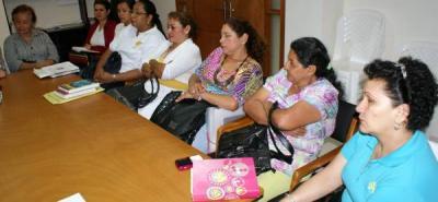 Varias asosiaciones de mujeres y lídere comunales hicieron parte de esta actividad.