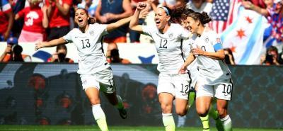 Estados Unidos derrotó a Japón, selección que las había derrotado en 2011, durante la final del Mundial de Fútbol Femenino Canadá - 2015.