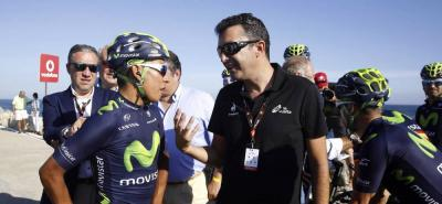 Nairo Quintana ya corrió su primera etapa en la Vuelta a España