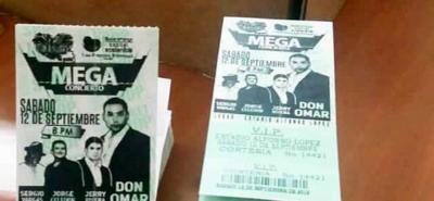 Delincuentes venden boletas para conciertos gratuitos de la Feria de Bucaramanga