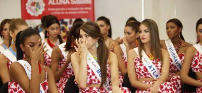 Reinas colombianas lloraron al conocer historias de niños