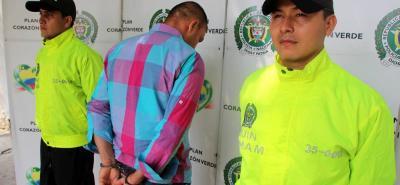 El capturado fue dejado a disposición de la Fiscalía General de la Nación para ser judicializado.