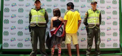 Estas dos personas fueron arrestadas en la etapa II del asentamiento humano El Páramo, tras asaltar a un taxista.