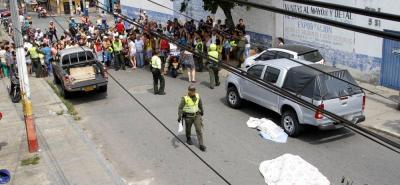 El trágico accidente, en el que fallecieron tres personas, miembros de una misma familia, ocurrió en la mañana de ayer, en el barrio Girardot.