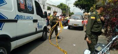 El accidente se registró en el barrio Girardot, el sábado en la mañana.