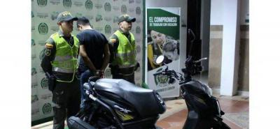 Detienen a tres personas por hurto de motocicletas en Bucaramanga