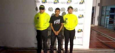 Weiner José Hoyos López, alias 'Tabaco', de 22 años de edad, fue dejado a disposición de la Fiscalía.