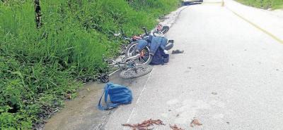 En el kilómetro 5 de la vía que conduce de Vado Real a Gámbita se produjo un trágico accidente, al colisionar una motocicleta con una bicicleta, donde perdió la vida la joven de 14 años, Yury Milena Martínez Saavedra.